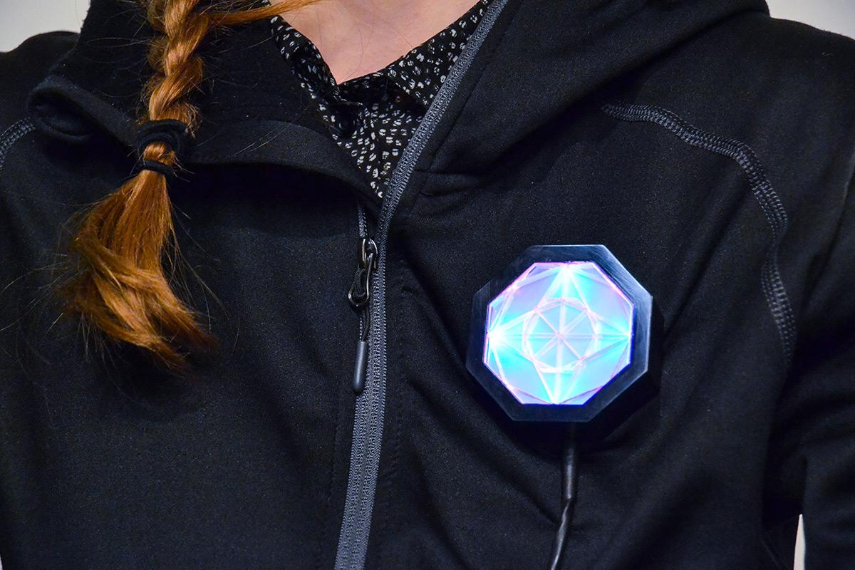 octagonal brooch