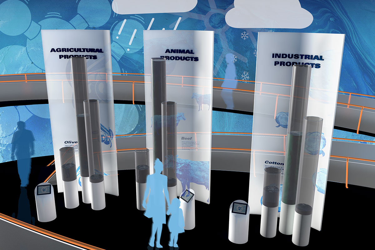 interactive water consumption display